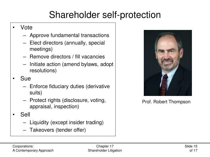 Shareholder self-protection
