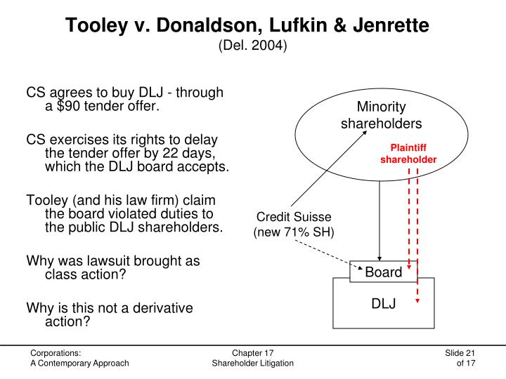 Tooley v. Donaldson, Lufkin & Jenrette
