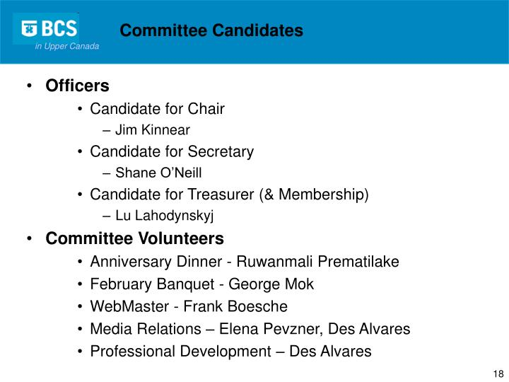 Committee Candidates