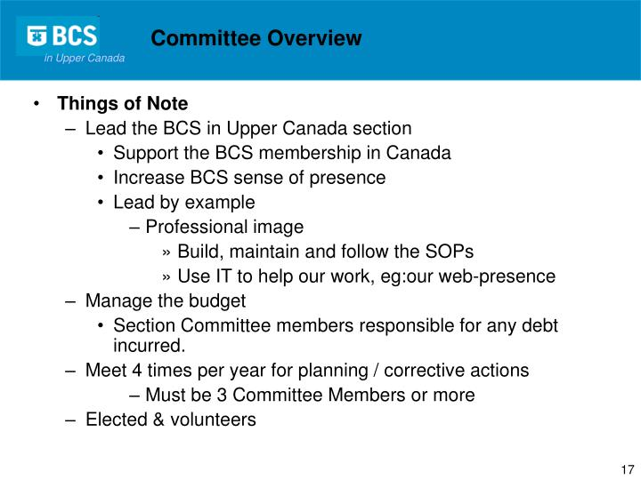 Committee Overview