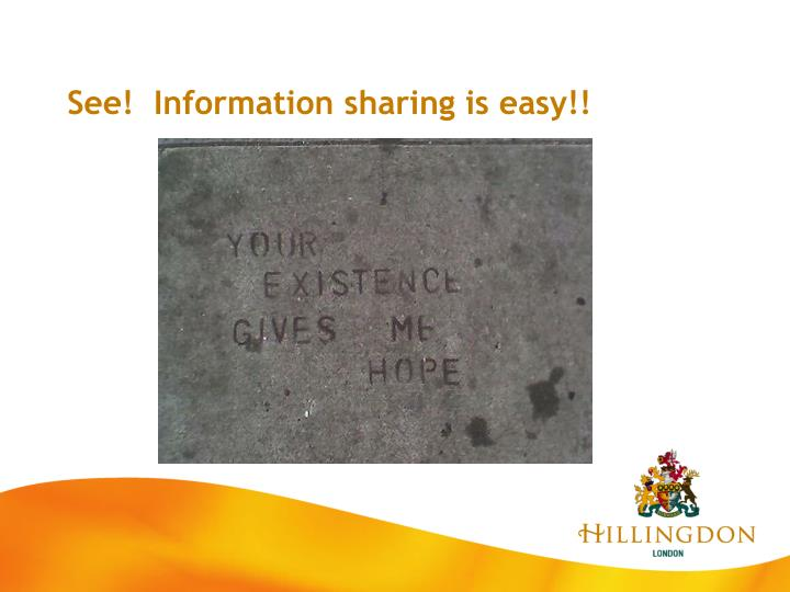 See!  Information sharing is easy!!