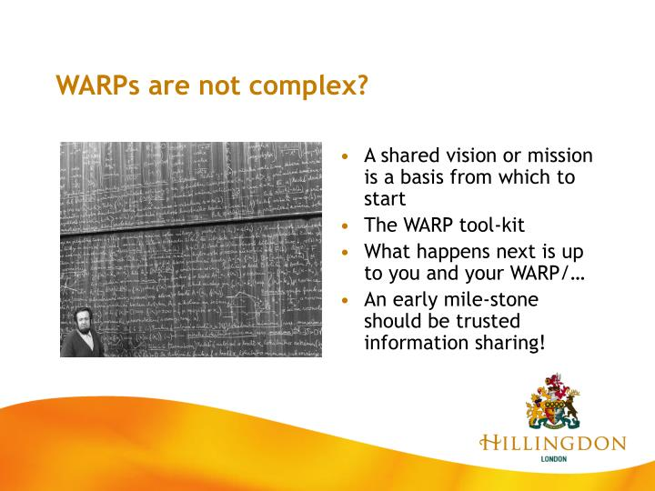 WARPs are not complex?