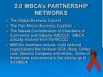 2 0 mbca s partnership networks