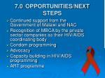 7 0 opportunities next steps