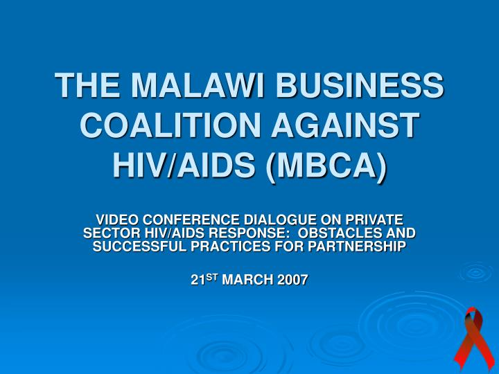 the malawi business coalition against hiv aids mbca