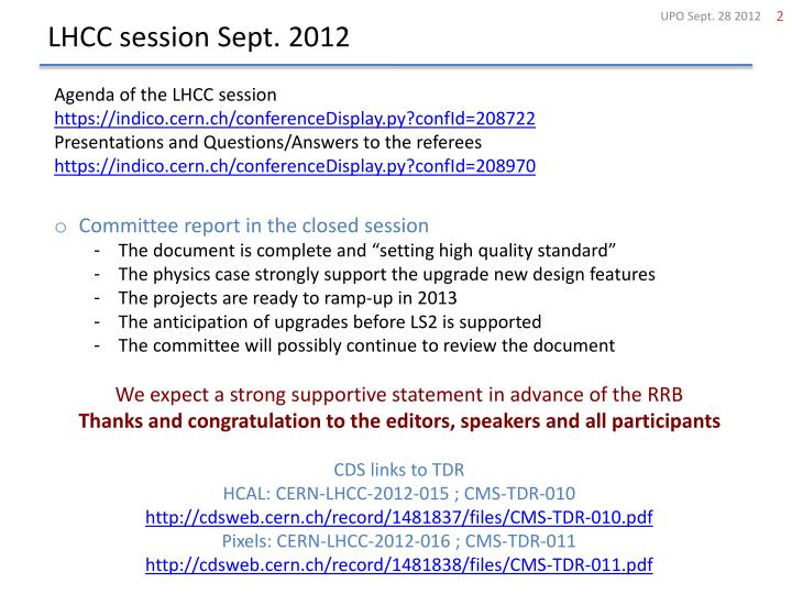 Lhcc session sept 2012