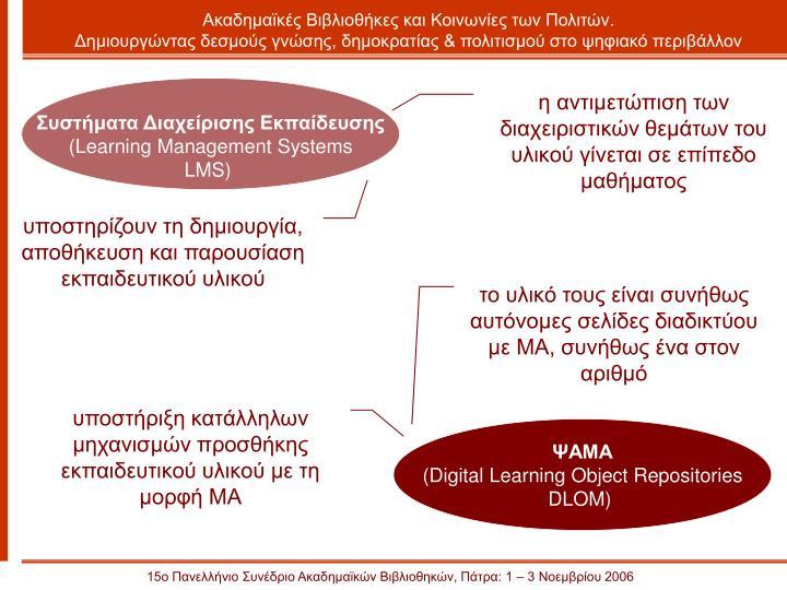 Ακαδημαϊκές Βιβλιοθήκες και Κοινωνίες των Πολιτών.