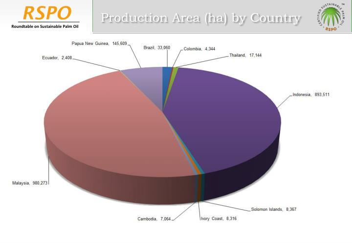 Production Area (ha) by Country