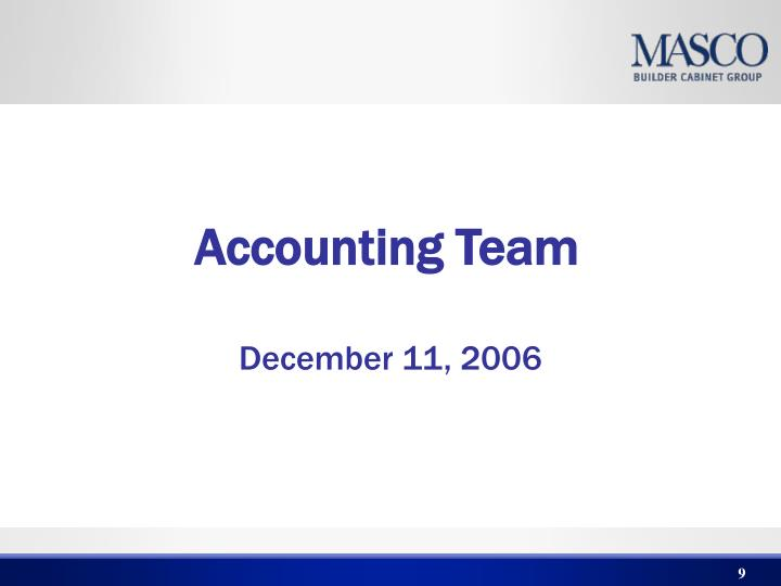 Accounting Team