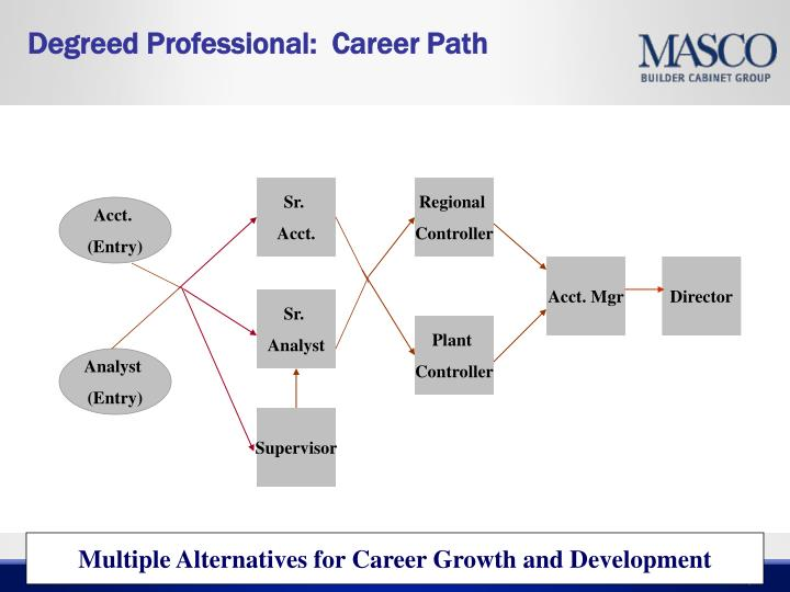 Degreed Professional:  Career Path