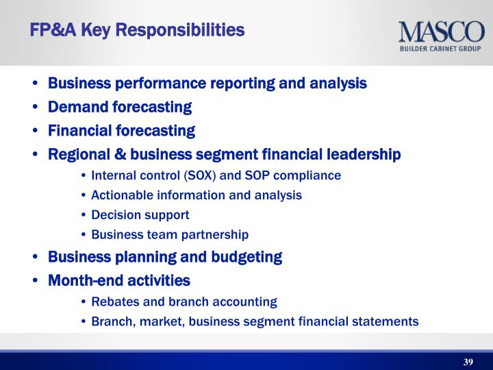 Business performance reporting and analysis