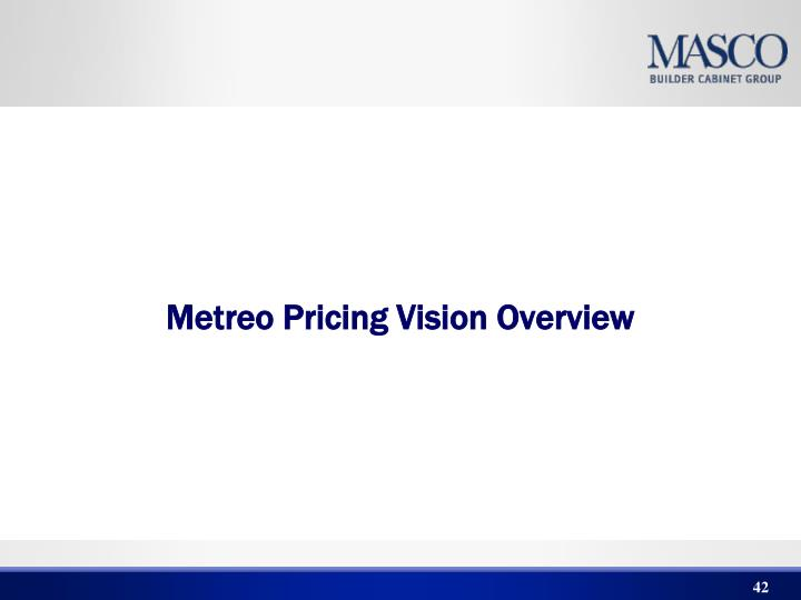 Metreo Pricing Vision Overview