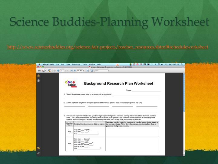 Science Buddies-Planning Worksheet