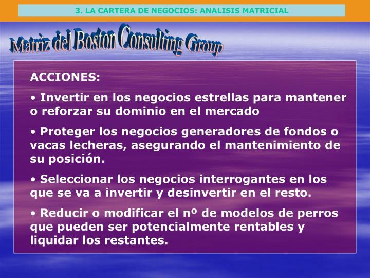 3. LA CARTERA DE NEGOCIOS: ANALISIS MATRICIAL