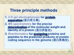 three principle methods