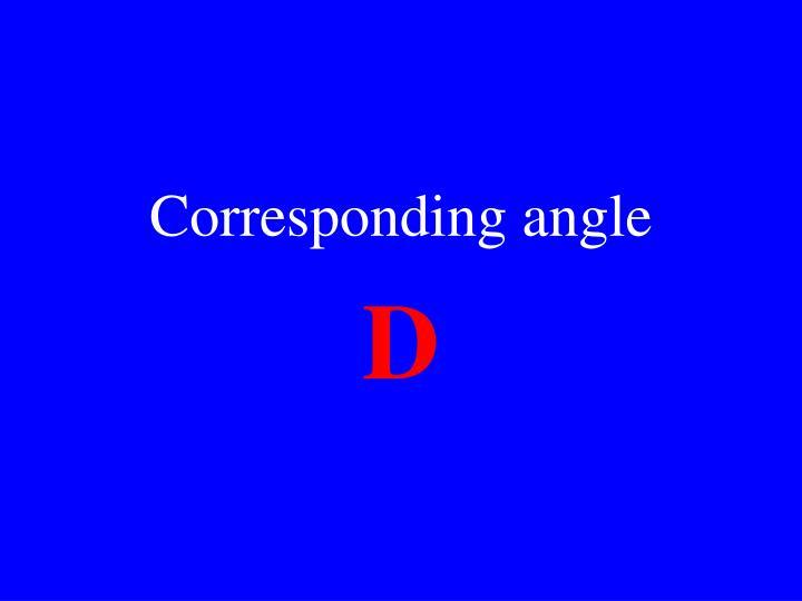 Corresponding angle
