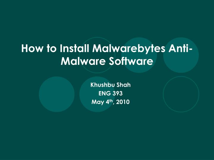how to install malwarebytes anti malware software n.