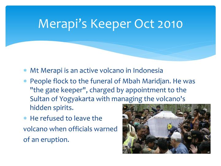 Merapi s keeper oct 2010
