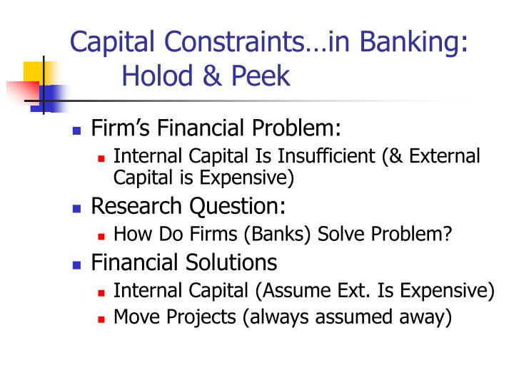 defined capital constraint Constraint violation constraint violations at the point of constraint violation strategy since the capital availability can be adjusted.