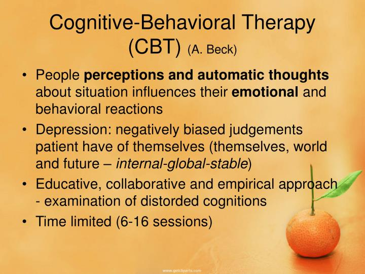 overview of cognitive behavioural therapy cbt Dialectical behavior therapy (dbt) treatment is a type of psychotherapy — or talk therapy — that utilizes a cognitive-behavioral approach dbt emphasizes the psychosocial aspects of treatment.