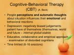 cognitive behavioral therapy cbt a beck