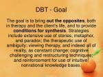 dbt goal