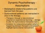 dynamic psychotherapy assumptions