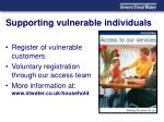 supporting vulnerable individuals