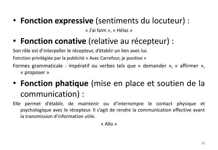 Fonction expressive