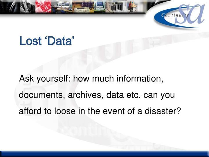 Lost 'Data'