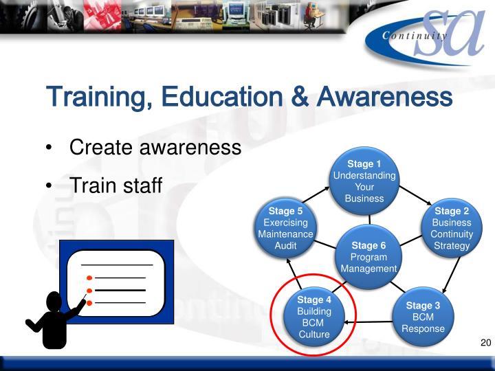 Training, Education & Awareness
