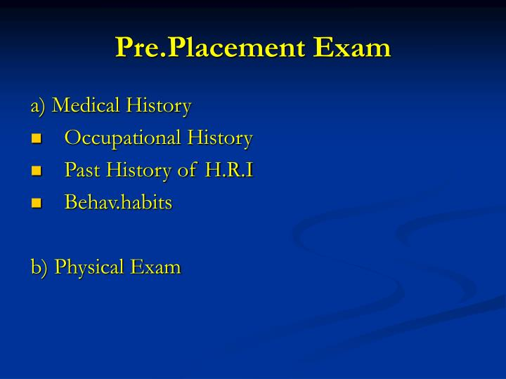 Pre.Placement Exam