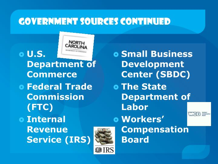 Government Sources continued