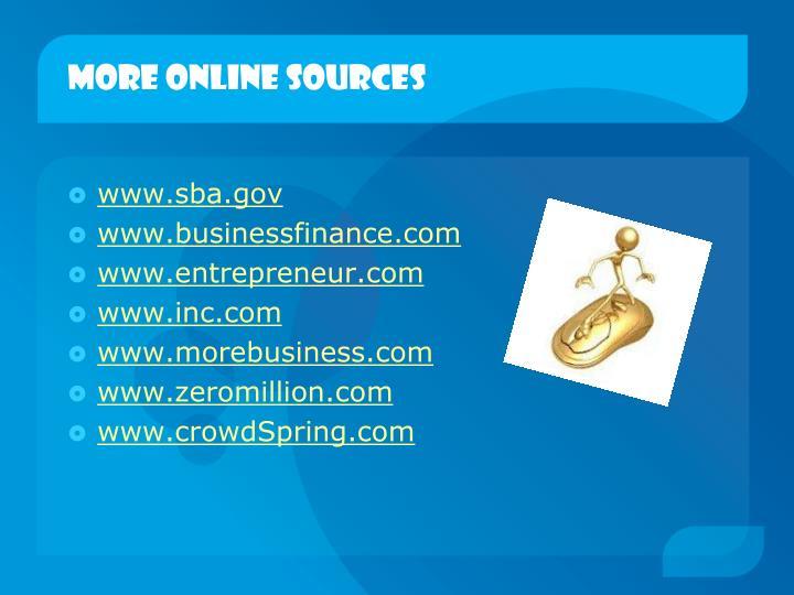 More online sources