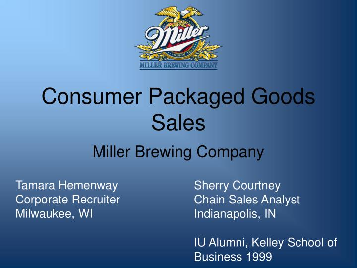 consumer packaged goods sales