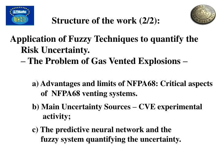 Structure of the work (2/2):
