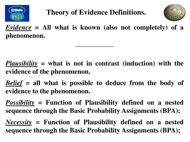 Theory of Evidence Definitions.
