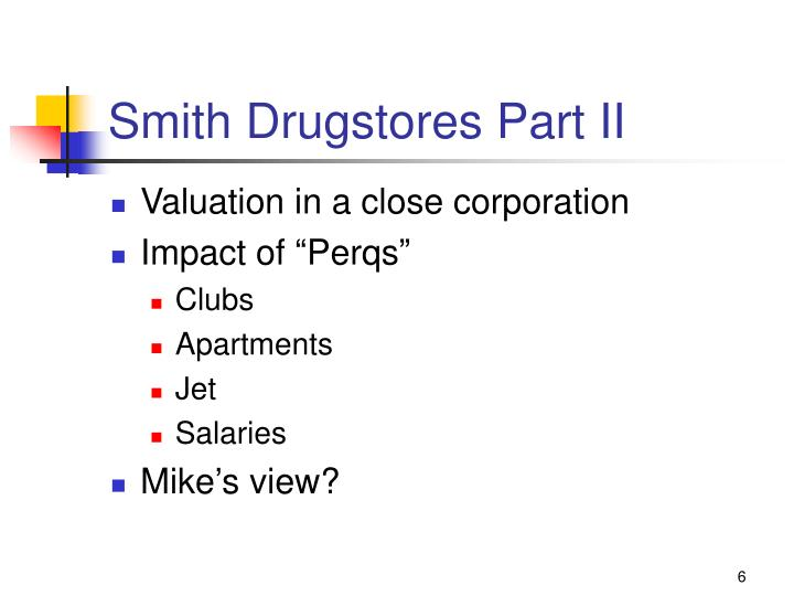 Smith Drugstores Part II