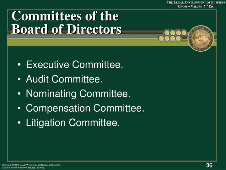 Committees of the