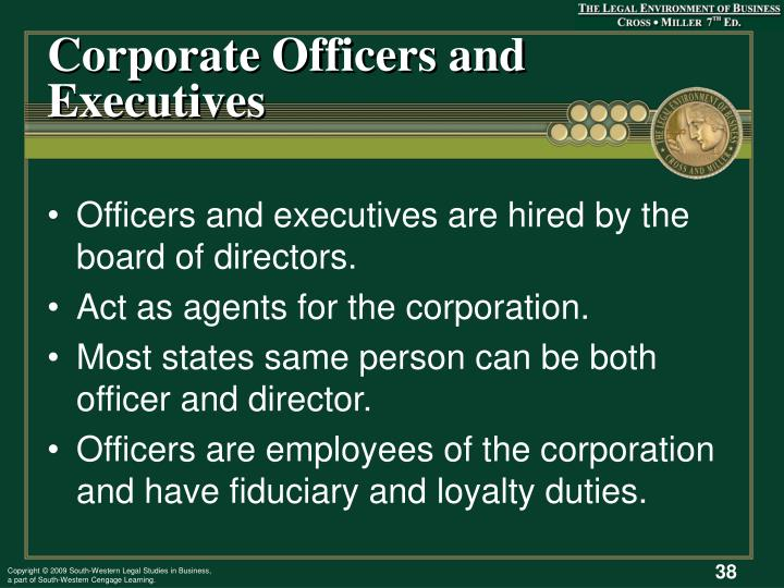 Corporate Officers and Executives