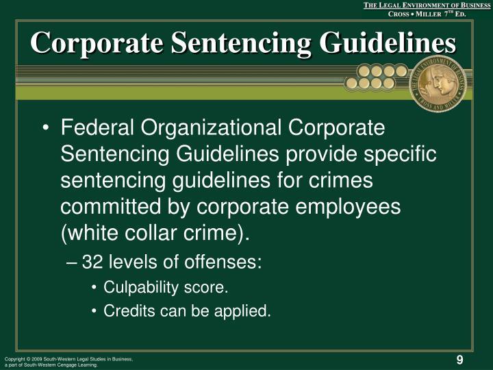 Corporate Sentencing Guidelines