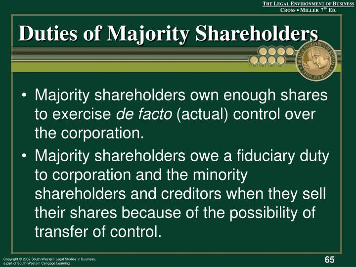 Duties of Majority Shareholders