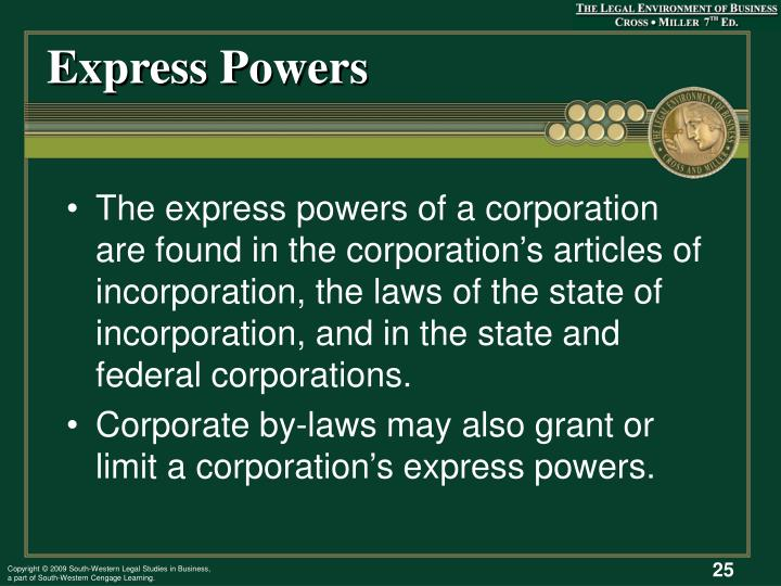 Express Powers