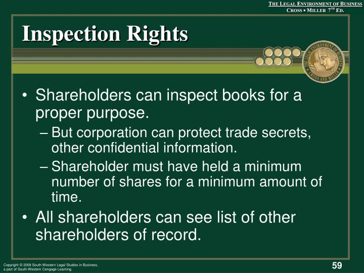 Inspection Rights