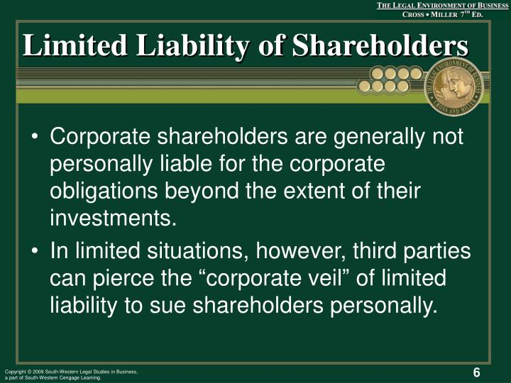 Limited Liability of Shareholders