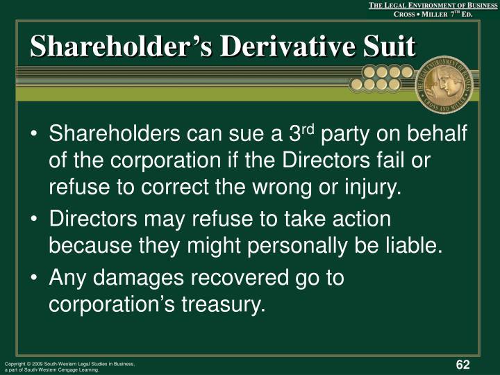 Shareholder's Derivative Suit