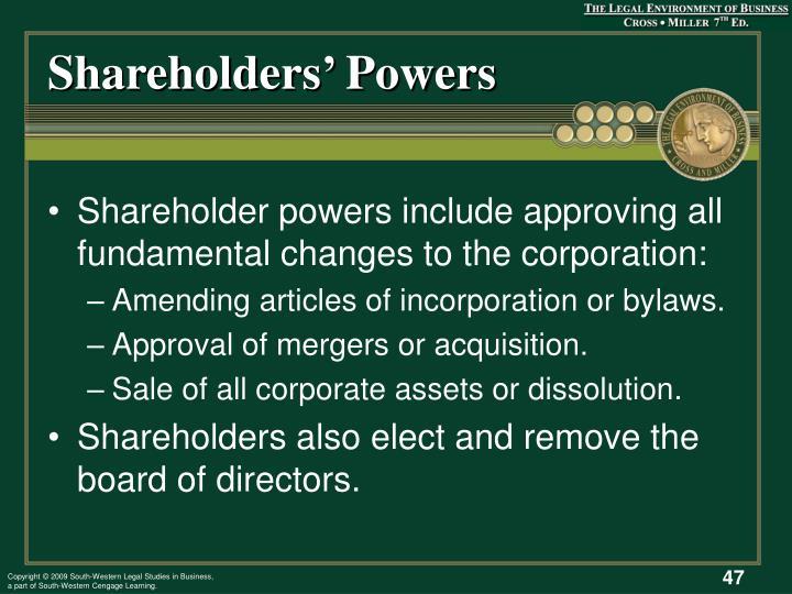 Shareholders' Powers