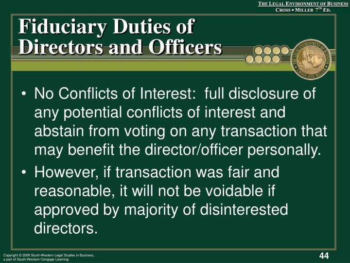 Fiduciary Duties of