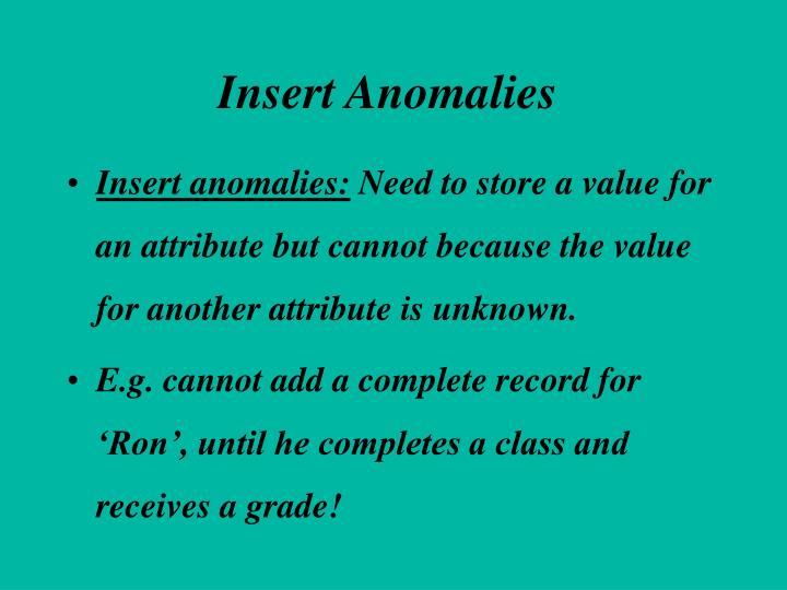 Insert Anomalies