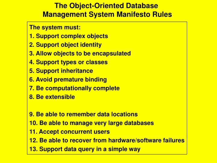 The Object-Oriented Database